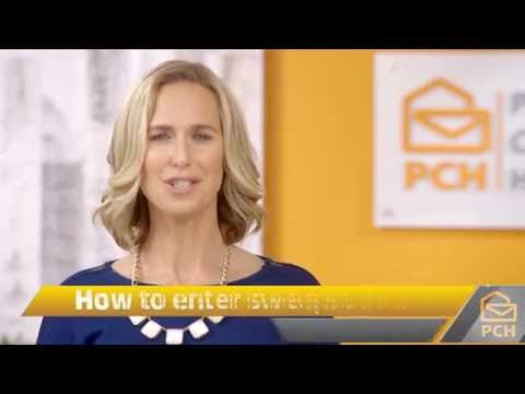 How to enter the Publishers Clearing House Sweepstakes! - YouTube