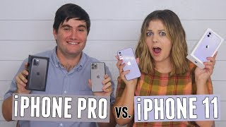 Unboxing Our New iPhones!! (iPhone 11 vs 11 Pro)
