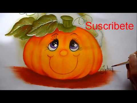 Pintura en tela halloween fantasma y calabacita 2 youtube - Motivos navidenos para pintar en tela ...