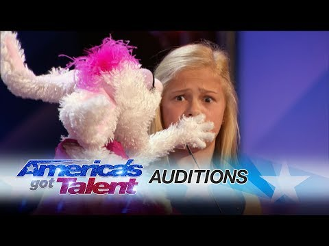 Darci Lynne: 12YearOld Singing Ventriloquist Gets Golden Buzzer  America's Got Talent 2017