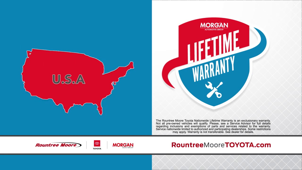 New & Used Vehicle Lifetime Warranty | Rountree Moore Toyota