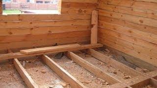 Деревянный пол , делают так !!!(Пол — внутренняя часть комнаты или помещения, служащая в качестве перекрытия между нижним этажом или подва..., 2014-01-27T15:00:06.000Z)