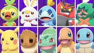 Pokémon Sword & Shield - All Starters Curry Reactions