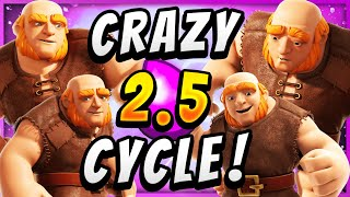2.5 ELIXIR! CHEAPEST GIANT CYCLE in CLASH ROYALE!