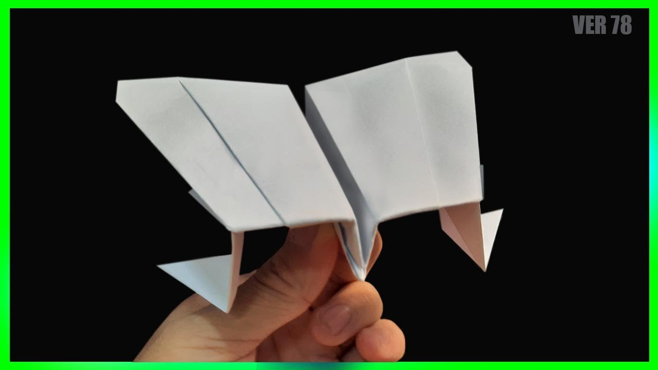 Boomerang paper airplane ver 78 | how to make paper airplane easy #boomerangplaneking