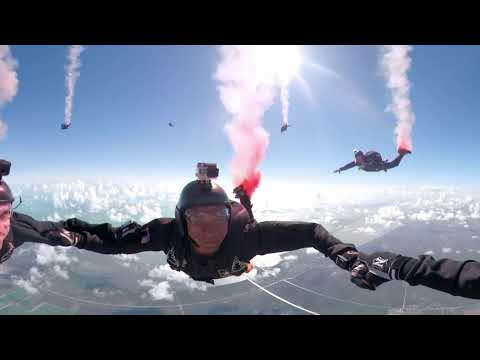 A 360º View Of The U.S. Army's Golden Knights Parachute Team