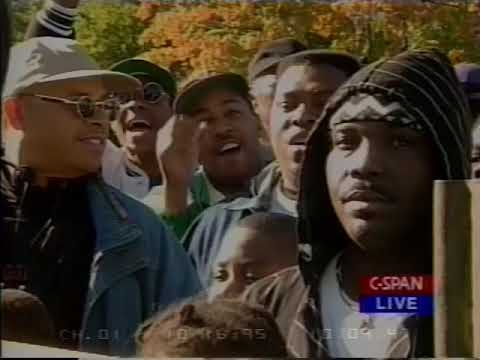 C-SPAN Coverage of Million Man March (October 16, 1995)