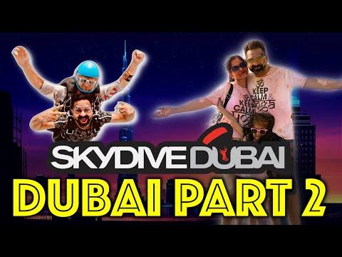 Dubai Vlog Part 2 | Skydive | Holi Party | Shri Guru Nanak Darbar | Miracle Garden | Harpreet SDC