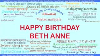 BethAnne   Languages Idiomas - Happy Birthday