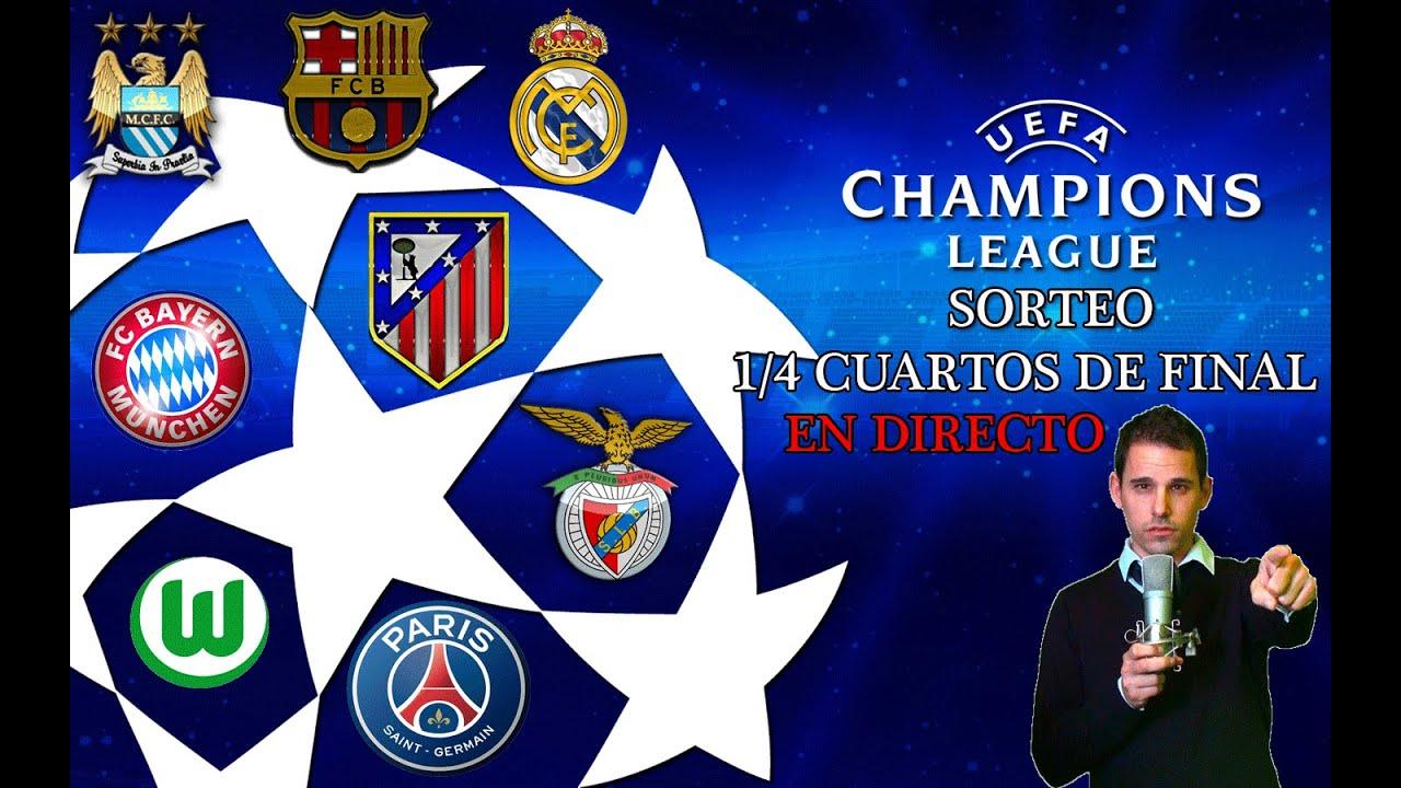SORTEO 1/4 CUARTOS DE FINAL UEFA CHAMPIONS LEAGUE 2015-16 ...