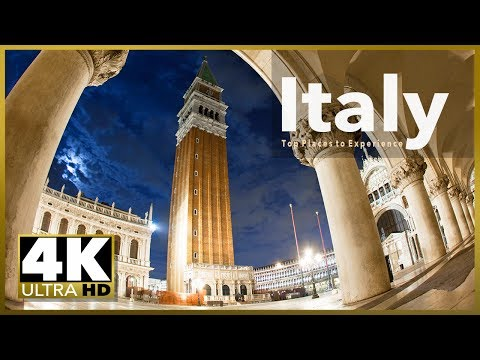 ITALY top tourist destinations, 4k Ultra HD Stock Video Footage