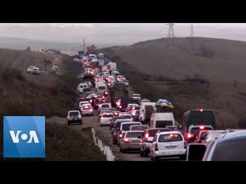 Armenians Flee Disputed Nagarno-Karabakh Region