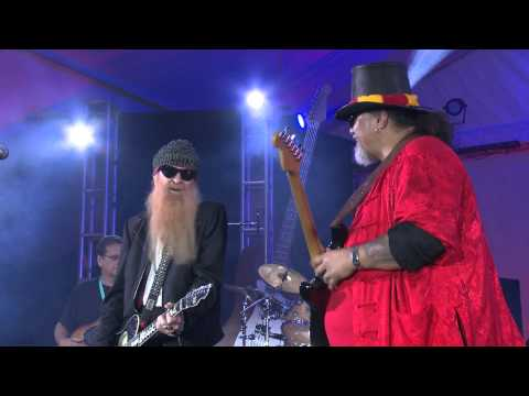 Willie K & Billy Gibbons at the 2015 BBQ Bluesfest