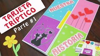 TARJETA TRÍPTICO - Lapbook de Amor PARTE#1