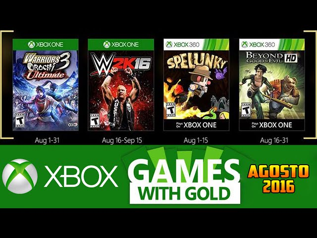 Jogos GrÁtis Xbox Live Gold De Agosto 2016 (xbox 360 / Xbox One)