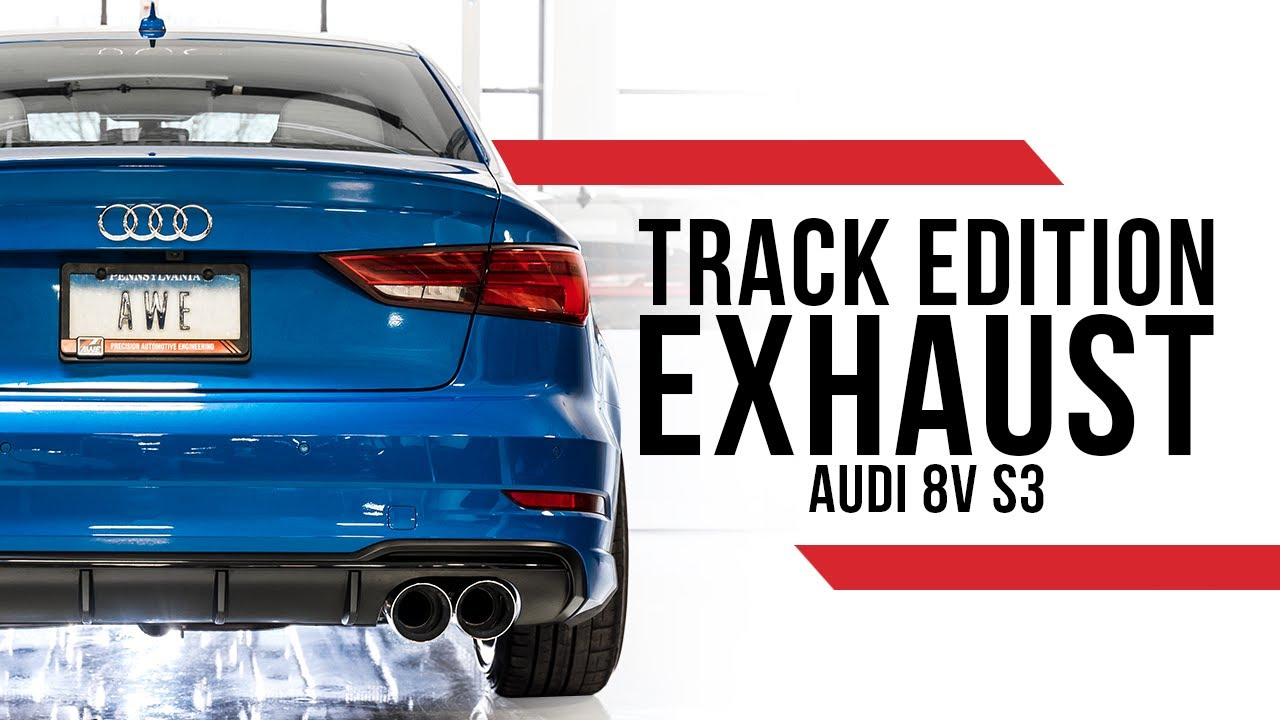 awe track edition exhaust for the audi 8v s3