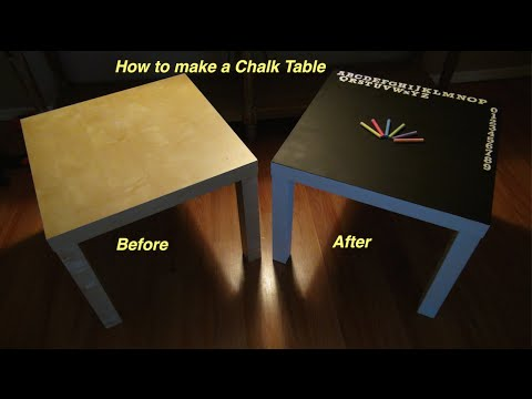 How To Make A Chalk Table Using An Ikea End Table Youtube