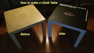 How To Make A Chalk Table Using An Ikea End Table