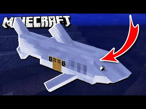 How to LIVE INSIDE a SHARK in Minecraft!