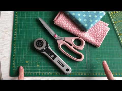 Как ровно резать ткань с помощью рскроечного ножа и линейки. Простая стёжка.
