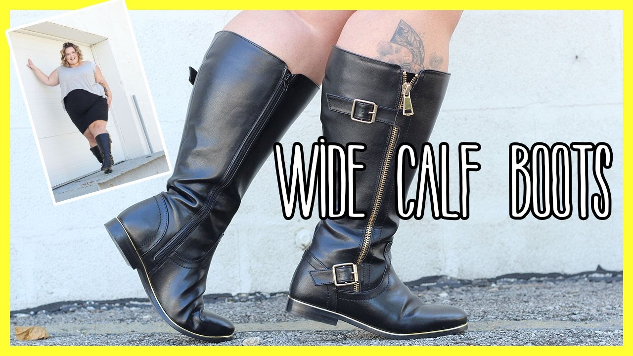 Finding Your Size In Wide Calf Boots | Plus Size - YouTube
