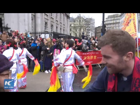 Grand parade held in Trafalgar Square to celebrate Chinese New Year