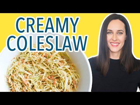 Creamy Coleslaw - Mayo-free Coleslaw, Vegan Recipe