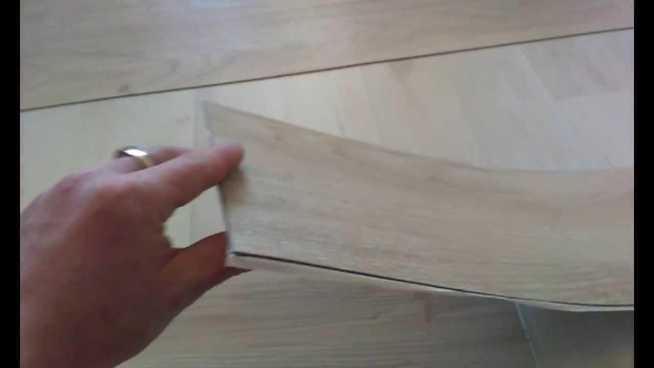 Укладка замковой ПВХ плитки WINEO!!! - YouTube