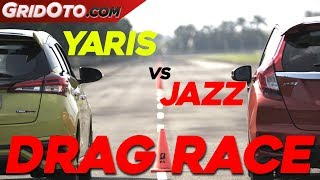 Drag Race Jazz Vs Yaris | Drag Race | GridOto