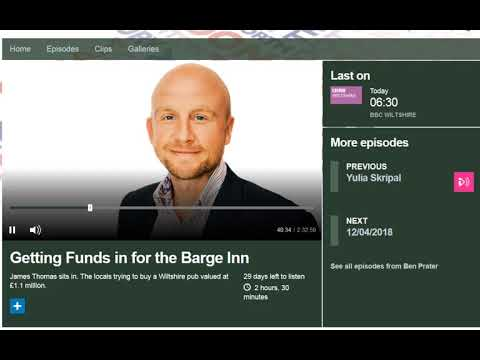 Barge Inn Co-operative Group on BBC Wilts Radio