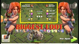 Clash of clans Biggest Loot | Clash of Clans Biggest Raid at Champions League