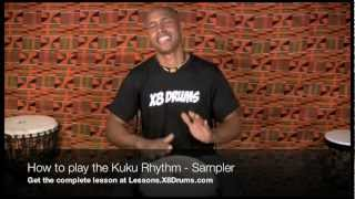 How to Play Kuku Rhythm on Djembe - X8 Drums Online Djembe Lessons