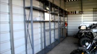SHOP UPDATE / angle iron storage shelving units / awesome craigs list find!!