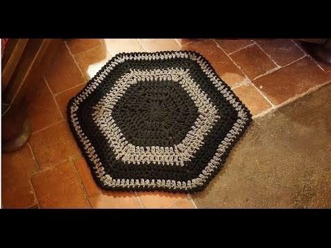Tutorial tappeto alluncinetto facilissimo - alfombra crochet ...