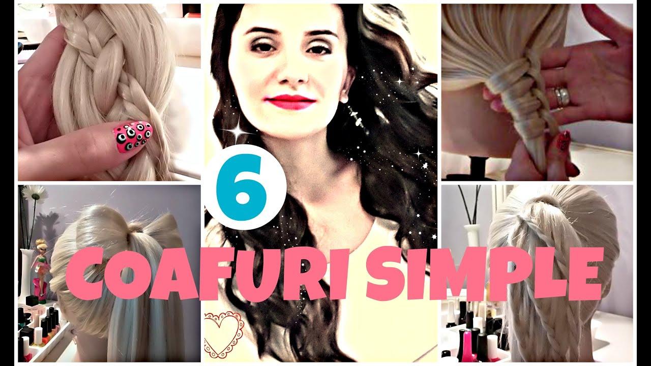 6 Easy Hairstyles Coafuri Simple De Facut Acasa Tutoriale Crix