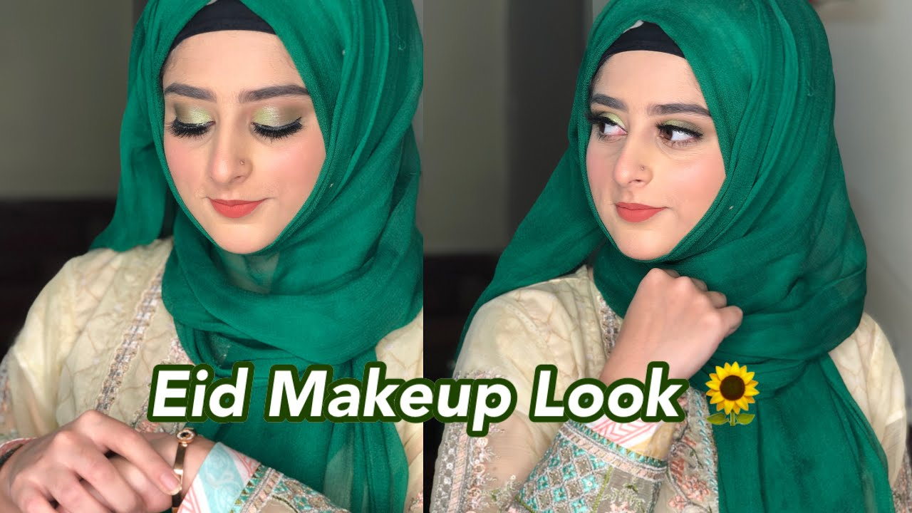 OLIVE GREEN EID MAKEUP | SHEAFFEAR PRODUCTS REVIEW | SAMRA MIRR