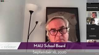 MAU School Board // 09/16/20