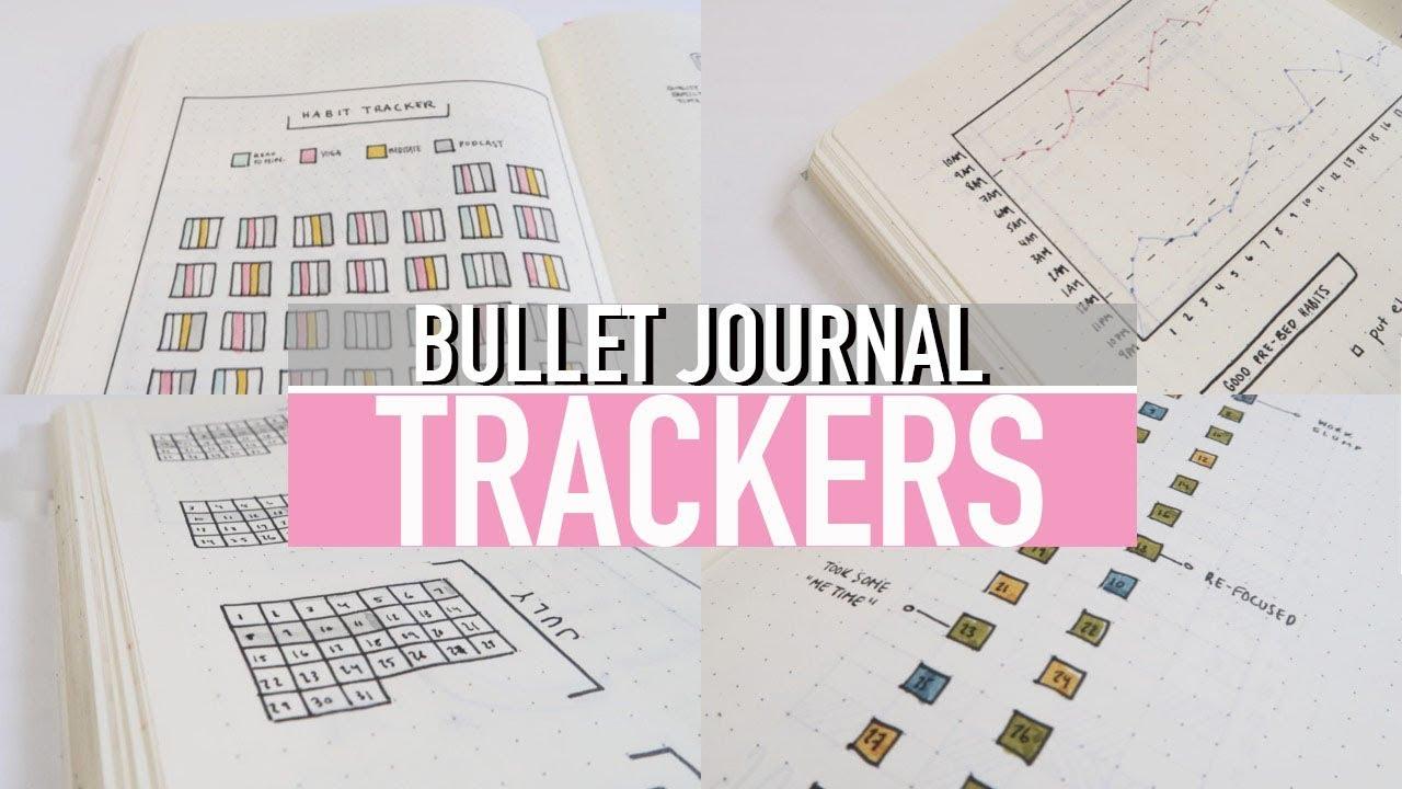 8 bullet journal tracker ideas habits spending sleep log youtube