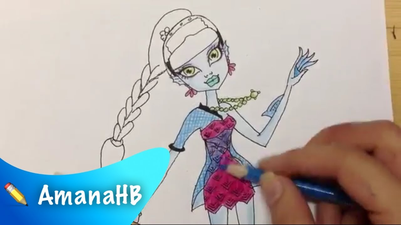 Speed Drawing of Lagoona Blue \