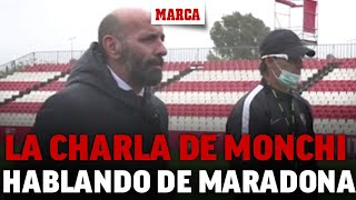La charla motivadora de Monchi a la plantilla hablando de Maradona:
