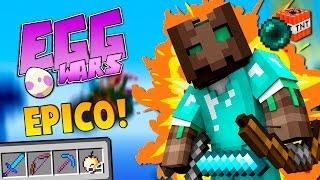 ¡LA PARTIDA MÁS ÉPICA DE EGGWARS! YO SOLO vs 2 TEAMS Y CAMPEROS! - EGGWARS Minecraft