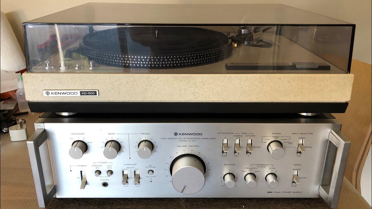Stunning Kenwood KA-907 Integrated Amplifier + Bonus KD-500 Turntable  Serviced & Repaired!