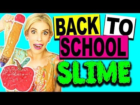 DIY Back To School Slime & Room Tour