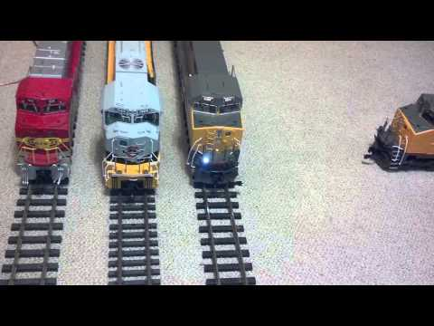 G scale diesel comparison MTH, USA Trains, Aristo