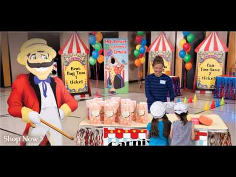 Carnival birthday party decor ideas