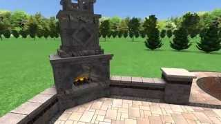 Brick Paver Patio Fireplace Troy Mi