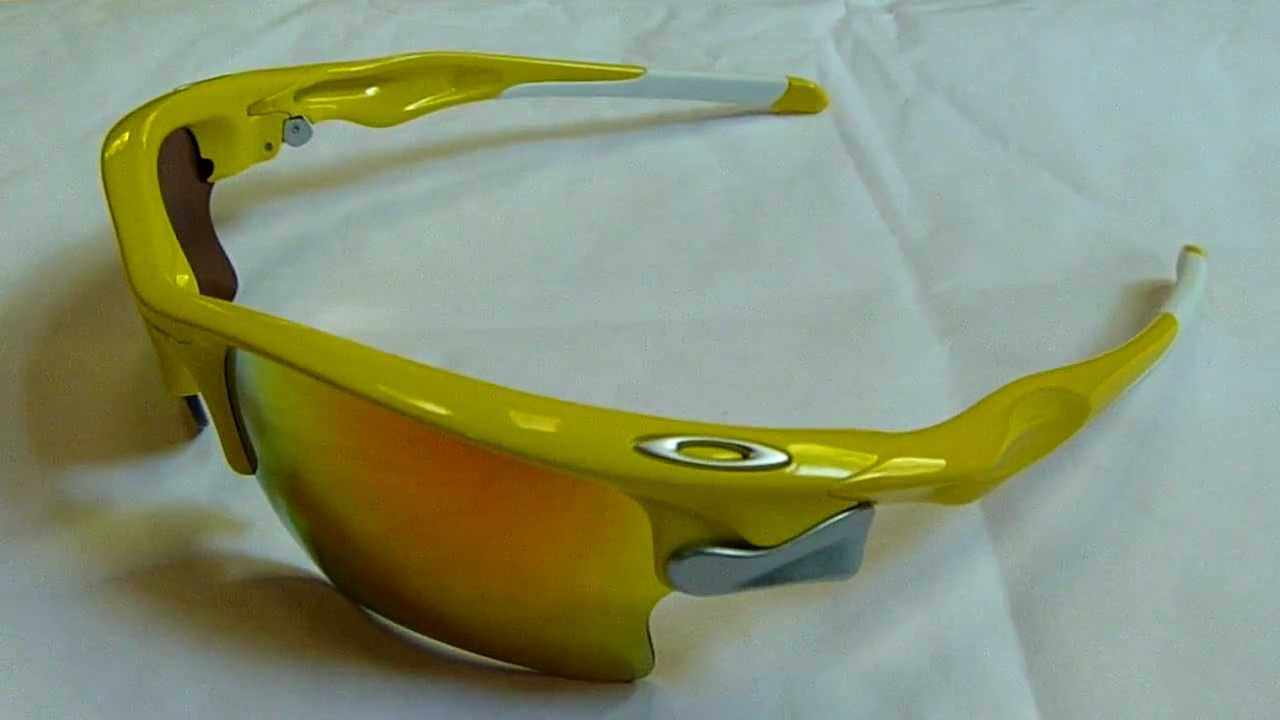fast jacket oakley lenses dfml  Oakley Fast Jacket XL, Lemon Peel with Fire lens, New from Oakley