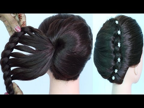 New French Bun Using Clutcher With Amazing Trick    Wedding Hairstyles    Beautiful Hairstyle