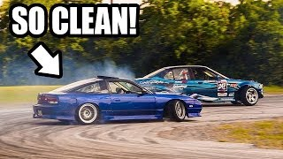 homepage tile video photo for Drift Review | Cleanest Pro-Am Car Ever? Big Turbo 2JZ 240Sx