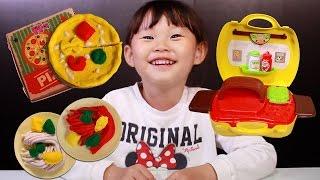 삐진 파랑이?! 똘똘이 화덕피자 스파게티 만들기 점토 장난감 소꿉놀이 LimeTube & Toy 라임튜브